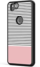 Google Pixel 2 Case Stripes,Gifun [Anti-Slide] and [Drop Protection] Soft Black TPU Protective Case Cover for Google Pixel 2 2017 Release - Minimal Stripes and Rose Gold