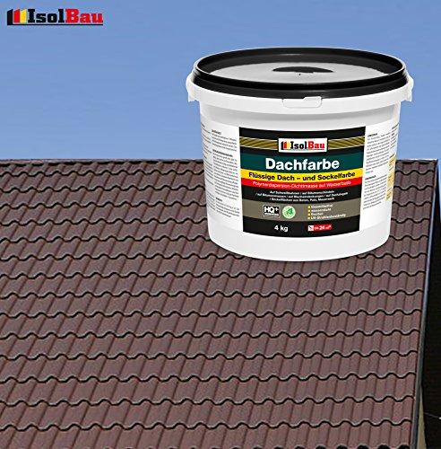 Dachfarbe Sockelfarbe Dachbeschichtung Dachlack Dachsanierung Polymermembran 4 kg Braun