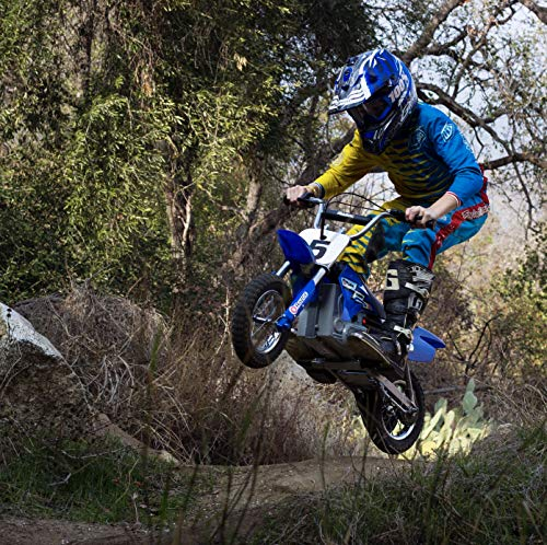"Razor MX350 Dirt Rocket Electric Motocross Off-road Bike for Age 13+, Up to 30 Minutes Continuous Ride Time, 12"" Air-filled Tires, Hand-operated Rear Brake, Twist Grip Throttle, Chain-driven Motor"