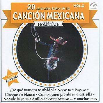 20 Grandes Éxitos de la Canción Mexicana, Vol. 2