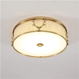 Ceiling Light النحاس قرن الوعل نوم ضوء الدافئة والمنزل غرفة نوم ضوء غرفة الزفاف ضوء السقف داخلي مصباح السقف for Hallway