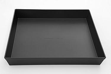 LloydPans 12x12x1.5 inch Style Pre-Seasoned Sicilian Pizza Pan, 12x12x1.5, Dark Gray