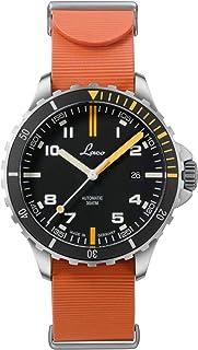 Laco - Mojave 862109.RB - Reloj deportivo para hombre (correa de caucho naranja, cristal de zafiro, diámetro 42 mm, ETA 2824.2 (Elaboré), 25 piedras, automático, incluye estuche)