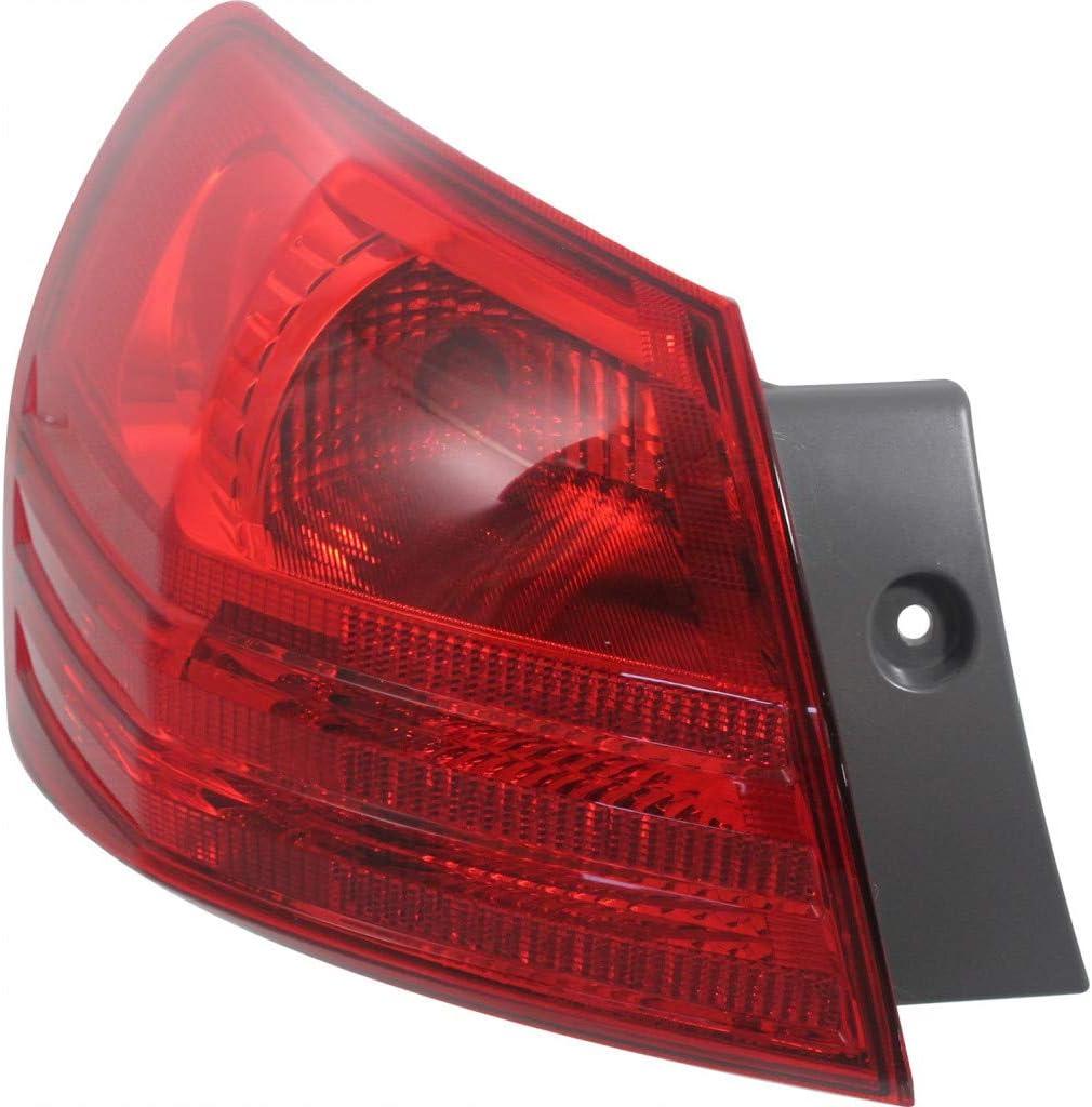 For Nissan Rogue Tail Light 2008-2013 Driver セール商品 Side NI2800183 デポー Rear