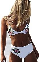 IYZITT Womens Flower Applique Sexy Bikini Padded Push-Up Bra Bikini Set Swimsuit Bathing Suit Swimwear Beachwear Women