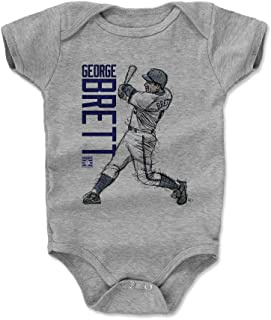 500 LEVEL George Brett Kansas City Baseball Baby Clothes & Onesie (3-24 Months) - George Brett Sketch