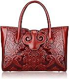 PIJUSHI Floral Bolso de mano mujer Designer bolsa, asa bolsos asa superior 91776