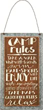 Primitives by Kathy 26839 Lake & Cabin Sign, 5.25 x 9.5-Inch, Camp Rules