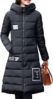 Leyben Women's Tops, Womens Fashion Winter Warm All-Match Hooded Long Jacket Down Cotton Coat Slim Parka Trench