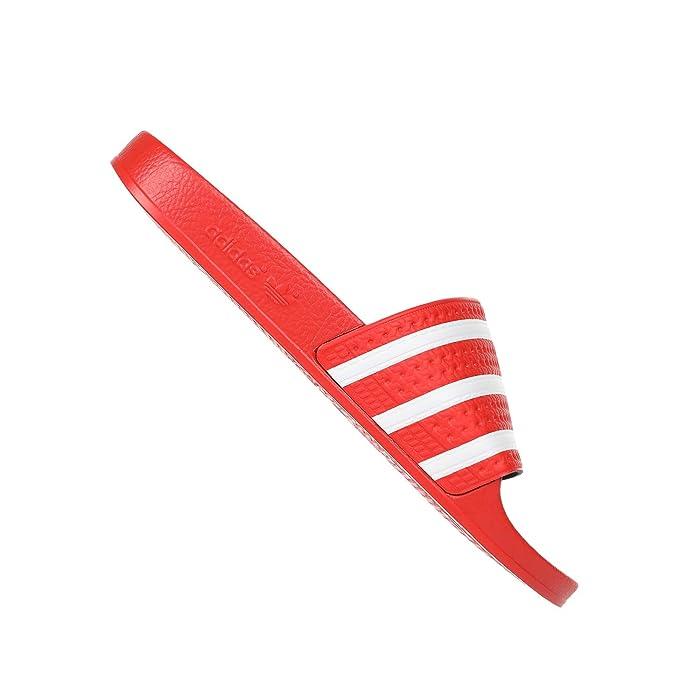 adidas  Adilette (Lush Red/Footwear White/Lush Red) Mens Slide Shoes