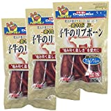 ドギーマン 犬用おやつ 素材紀行 子牛のリブボーン ビーフ 80g×3個 (まとめ買い)