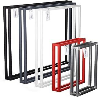 HOLZBRINK Pied de table basse, table à manger et bureau 40x43 cm (larg. x haut.), Noir, 1 pièce, HLT-18-L-BB-9005