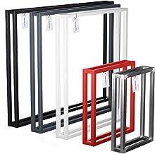 HOLZBRINK poten voor tafel, salontafel, eettafel, tafelpoot 100x72 cm (BxH), Grijs, 1 stuk, HLT-18-L-HH-7016