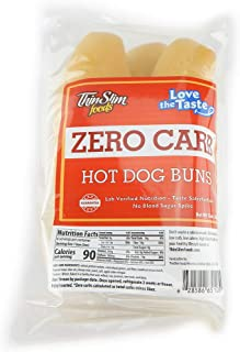 ThinSlim Foods 90 Calorie, 0g Net Carb, Love The Taste Low Carb Hot Dog Buns