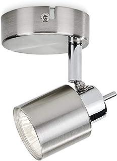 Philips Lighting myLiving Meranti Lampara con iluminación interior, Gris, 1 foco