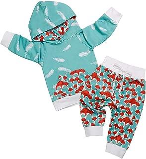 Waymine Infant Boys Girls Cartoon Deer Hill Printed Hooded Jumpsuit Baby Romper