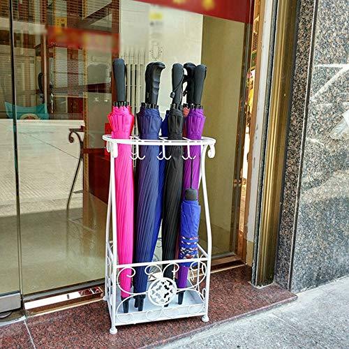 GYZ Schirmständer Creative Fashion Hotel Lobby Home Schmiedeeisen Schirmaufbewahrungsbehälter Bodenstehender Taschenschirm, 57X23X31cm (Farbe : B)