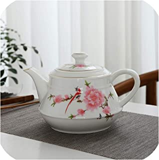 Big capacity ceramic teapot kettle restaurant porcelain tea pot chinese kung fu tea pot drinkware,Style A