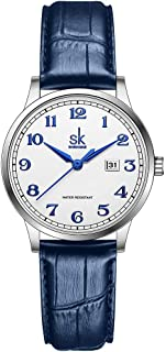 SK Business Classic Women Watch with Genuine Leather...