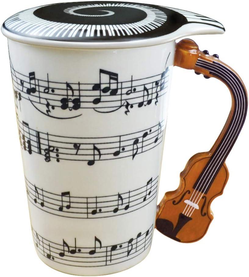 Trinkbecher KaffeeTasse Keramik 3D-Griff für Musiker