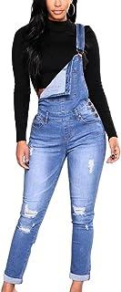 1eb986b4852 Mujer Peto Vaquero con Bolsillo Mono Jeans Casual Slim Fit Pantalones Ocio  Denim Dungarees