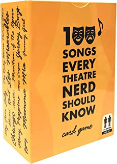 spinningrock 100 Songs Every Theatre Nerd Should Know - Ultimate Musical Theatre Broadway Card Game & Gift - Classic Deck