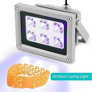 Vogvigo UV Resina Lámpara,Luz de Curado de Resina UV de 405 nm para SLA/DLP/Impresora 3D,Adecuado para Curado UV, Catálisis Fotoquímica, Terapia Médica, Pantalla LCD de Teléfono Móvil (6W)
