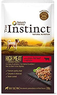 True Instinct High Meat Wet Adult Mini - Nature's Variety - Paté con Buey y Verduras para Perros Mini - 8 X 150G - Total ...
