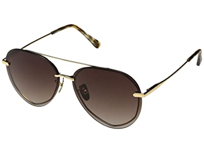 DIFF Eyewear Lenox (Gold/Brown) Fashion Sunglasses