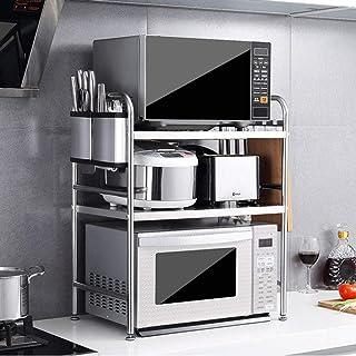 GUOSHUCHE étagère 3 304 Niveau de cuisine en acier inoxydable Four à micro-grille du four, armoires et de comptoirs étagèr...