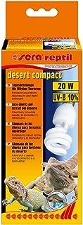 sera Reptil desert Compact – Lampada da terra desertificante 20 W e 10% UVB con attacco E27 – Illuminazione o lampada per ...