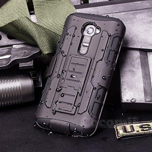 Cocomii Robot Belt Clip Holster LG G2 Mini Case, Slim Thin Matte Kickstand Swivel Belt Clip Holster Reinforced Drop Protection Fashion Phone Case Bumper Cover for LG G2 Mini (Black)