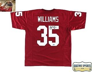 Aeneas Williams Autographed/Signed Arizona Red Custom Jersey