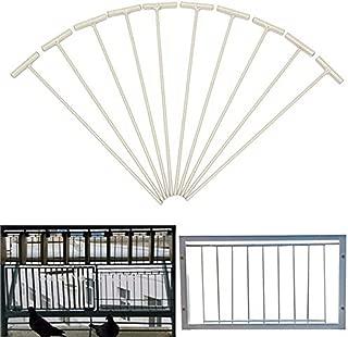 POPETPOP 10 Pieces Pigeon Bobs Traps-Pigeon Bird Entrance Trap One-Way Window Door Curtain Iron T Bars