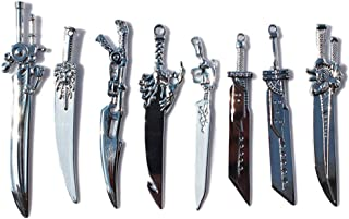 Final Fantasy Weapon Keyblade Full Set Keychain Collector Set of 8 in a Box