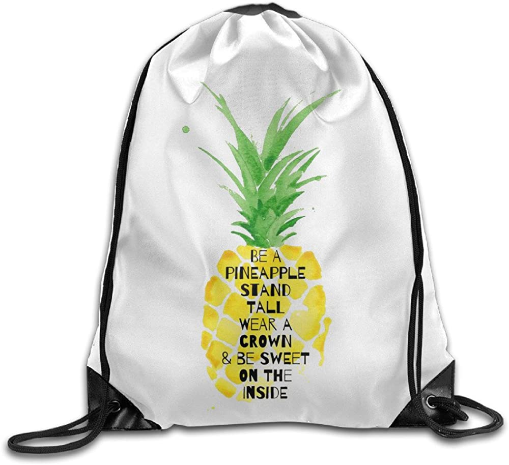 Little Be A Pineapple Backpack Super sale Over item handling ☆ period limited Bags Drawstring