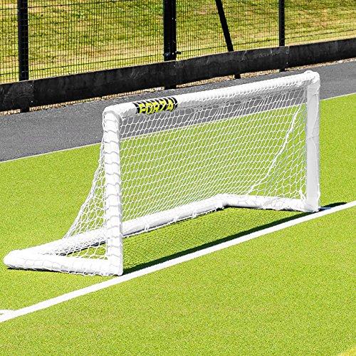 FORZA PVC Mini Hockeytor – 2,4m x 0,9m – EIN wetterfestes, leichtgewichtiges und freistehendes Hockeytor für Training