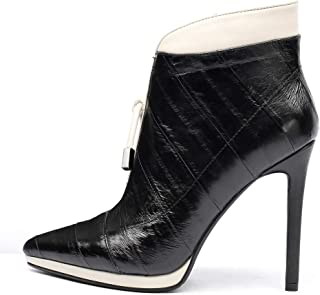 punto de venta barato HOESCZS Marca Nueva Zip Up Mujer Botines Delgados Delgados Delgados Tacones Altos del Dedo del pie Puntiagudo Partido Boda Mujer botas Zapatos Mujeres  vendiendo bien en todo el mundo
