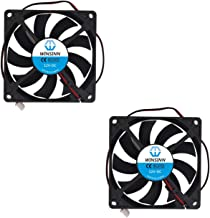 WINSINN 80mm Fan 12V Quiet Brushless 8015 80x15mm for Cooling PC Computer Case CPU Set-top Box Router Receiver DVR Playstation Xbox - 2Pin - Quiet (Pack of 2Pcs)
