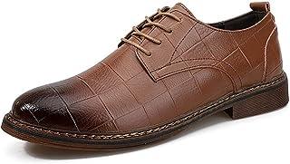 Dingziyue - Scarpe da uomo in pelle da lavoro, casual, a punta, traspiranti, set di piedi scarpe basse (colore : nero, tag...