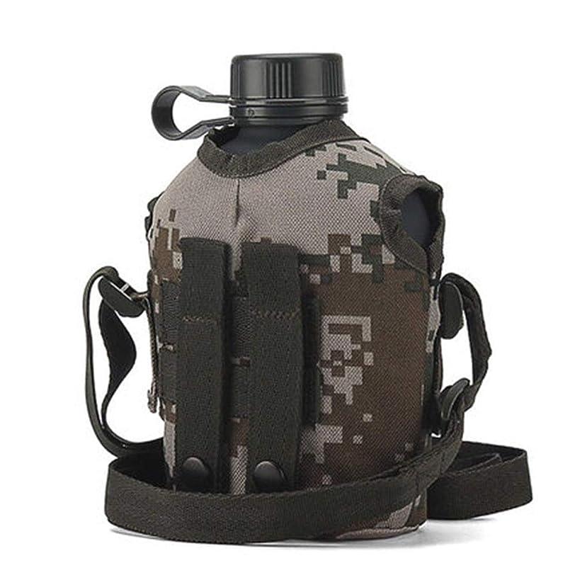 沿って怠けた震えるサーモ水筒,ステンレススリムボトル ボテラ?デ?アグアは、アンティカンパニー、カイダ、アンチカルダ、カルデラ、ポルタチル、カミュラージュ、エンタレミエント、ミリタリー1L (容量 : 1000ml, 色 : マルチカラー まるちから゜)