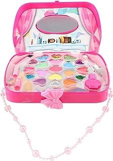 Girl Makeup Beauty Toy Cosmetics Party Glitter Eyeshadow Blusher Jewelry Box