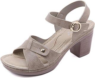 ZAPZEALA Block Heel Ankle Strap Sandals Women Summer Wedge Beach Sandals Low Heels Open Toe Comfort Fashion Wedding Party ...