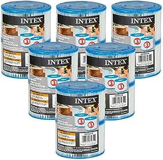 Intex - Juego de 12 cartuchos de tinta Pure Spa (6 paquetes de 2 filtros)