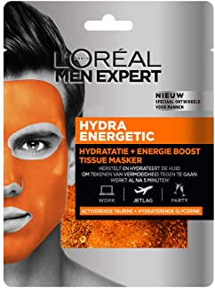 L'Oréal Paris, Ansiktsmask, Hydra Energetic Tissue Mask, 30 g