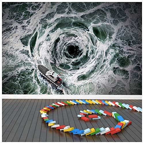 azutura Ozean Sturm Fototapete Boots-Whirlpool Tapete Jungen Schlafzimmer Haus Dekor Erhältlich in 8 Größen XXX-Groß Digital