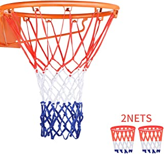 NKTM Professional 2 PCS Basketball Net All-Weather Heavy Duty Outdoor Net (12 Loops)