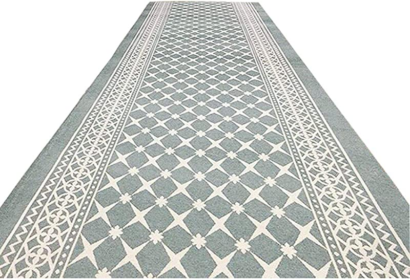 DD DD Carpet Runner For Stairs Hallway Rug Blended Material Decorative Slip For Hotel Floor Mat Multiple Styles 3m5m10m Color Gray Green Size 0 8x3m 2 6x10ft