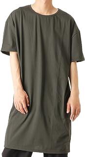 バレッタ クルーネック スーパーロングTシャツ 日本製 無地 ビッグ ワイド メンズ