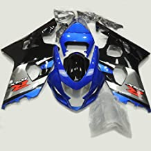 ABS Injection Molding - Motorcycle bodywork Fairing Kit for Suzuki GSXR 600/750 K4 2004 2005 Silver Blue Black Painted with Graphic